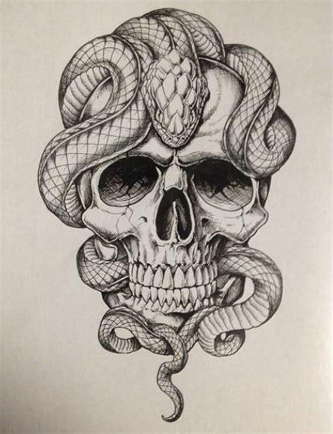 skull with snakes zeichnungen pinterest schlangen