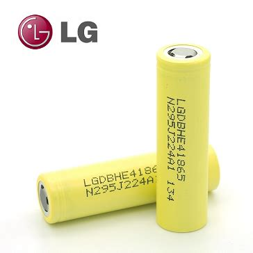 Batere Lg He2 18650 35 High Drain 2500mah battery lg he4 18650 3 7v 35a 2500mah high drain flat top