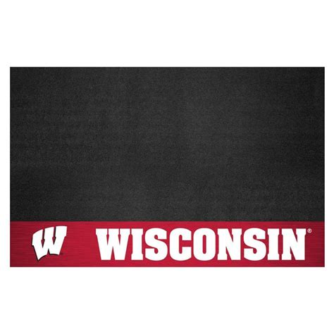 fanmats of wisconsin 26 in x 42 in grill mat