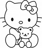 baby hello kitty coloring pages image gallery