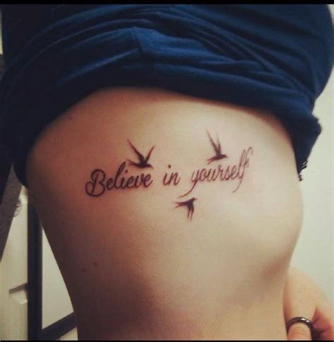 believe in yourself tattoo believe in yourself ideas