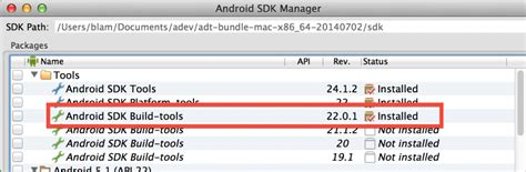android build tools version android studio failed to sync gradle project fix mac os x and linux tips