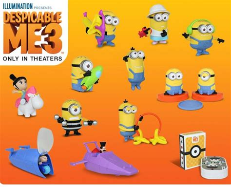Minion Happy Meal Mcdonald Cards mcdonalds 2017 minions despicable me 3 toys complete set