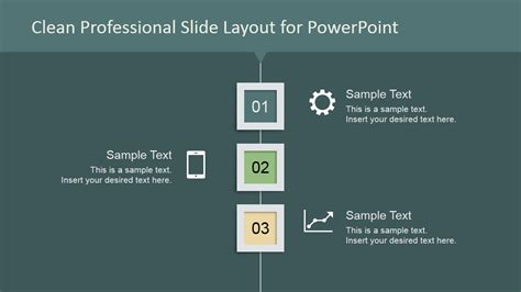 template de slides clean professional vertical layout for powerpoint green