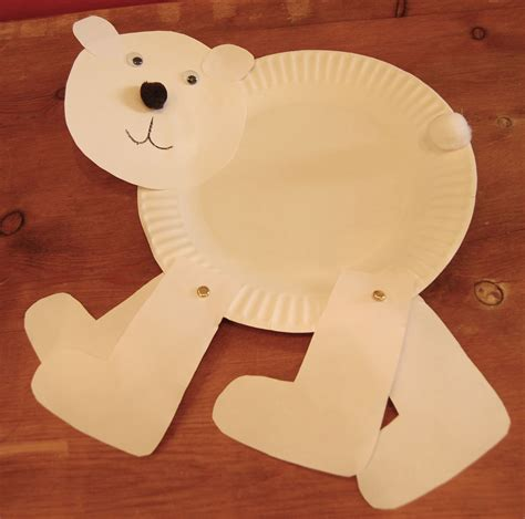 polar paper plate craft polar paper plate crafts