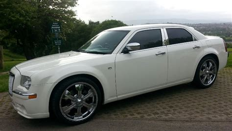 chrysler car white chrysler 300 white chrysler wedding car in newport gwent
