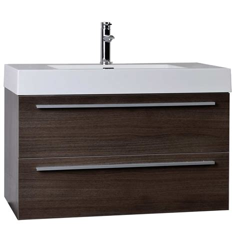 Bathroom Vanity Contemporary 35 5 Quot Modern Bathroom Vanity Grey Oak Wall Mount Free