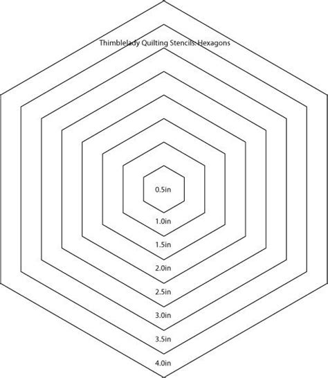 quilting hexagon template 17 best images about templates on other loved