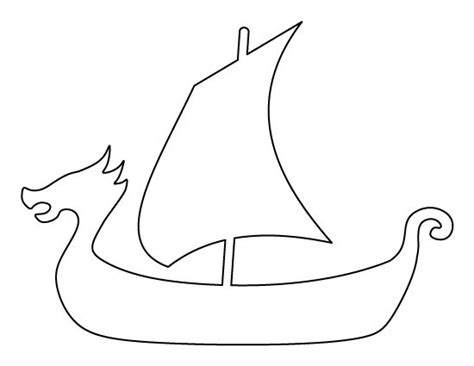 viking template viking ship pattern use the printable outline for crafts