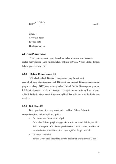Teori Dan Implementasi Berorientasi Objek Menggunakan C Buku Kompute bab ii landasan teori tb