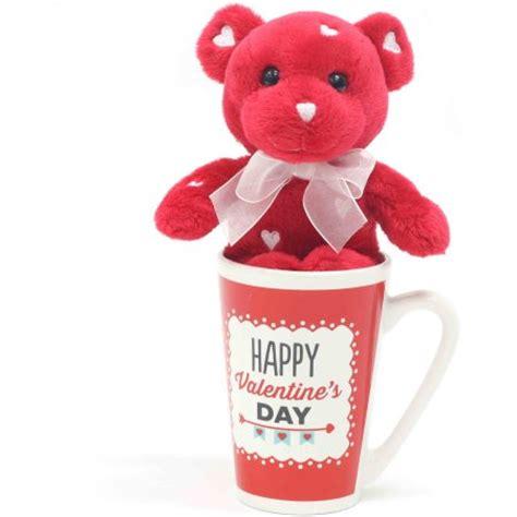 valentines day teddy walmart plush teddy latte mug set walmart