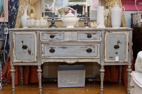 Cabinet Hutch Awesome Distressed Buffet
