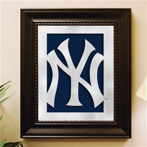 yankees wall decor new york yankees mlb laser cut framed logo wall