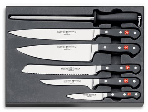 what is a good set of kitchen knives wusthof classic 6 piece chef s knife set 9751