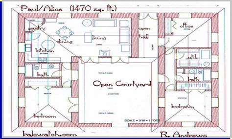 U Shaped Home Plans by U Shaped House Plans One Story L Shaped House Plans L