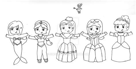 coloring pages of chibi disney princesses disney princess belle outline sketch coloring page