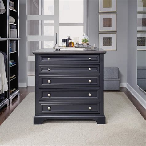 island with drawers for closet home styles bedford 5 drawer black closet island 5531 92