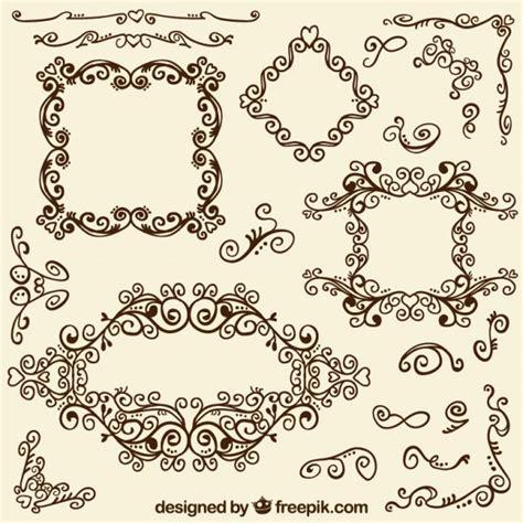 cornici ornamentali cornici ornamentali e angoli scaricare vettori premium