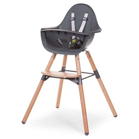 Chaise Haute Childwood childwood chaise haute evolu 2 pieds bois anthracite
