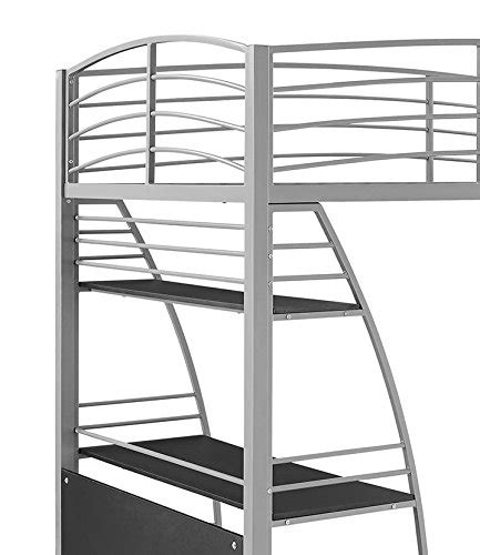 metal frame bunk bed with desk product reviews buy dhp studio loft bunk bed desk