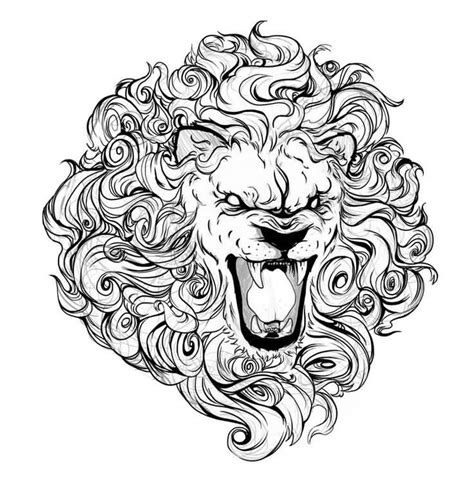 lion outline tattoo 70 designs you must see mens craze