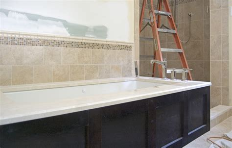 tiling around bathtub tile