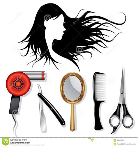 hairstyle tools reviews shopping hairstyle hair styling tools stock vector illustration of icon