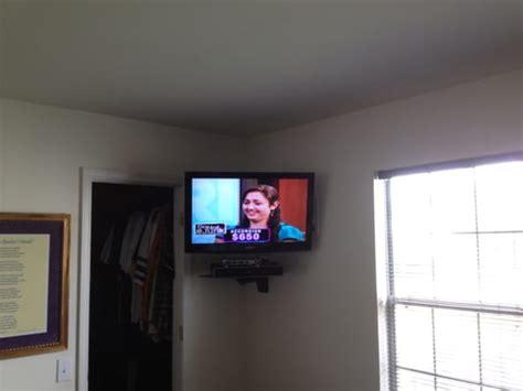 corner tv wall mount bracket  shelf pvc pet furniture