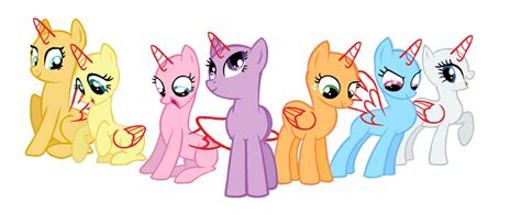 my little pony mane 6 base 1 base elements of harmony mane 7 by laurka13579 on