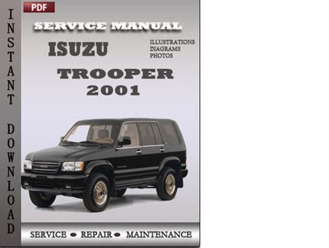 small engine maintenance and repair 2001 isuzu trooper engine control isuzu trooper 2001 factory service repair manual download downloa