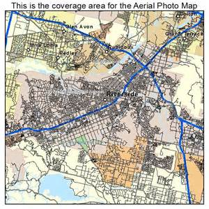 aerial photography map of riverside ca california