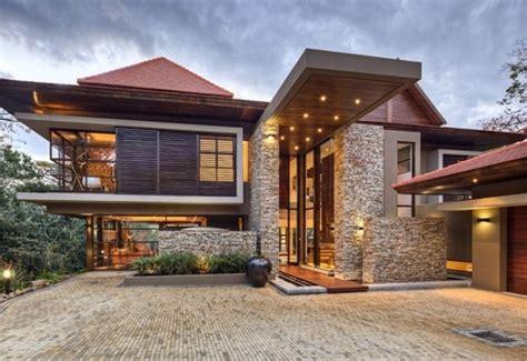 wood  stone modern home