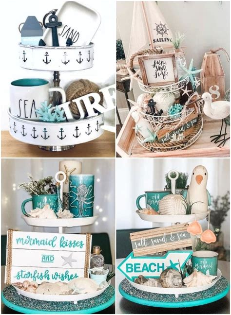 coastal tray chic vignette decorations styling shop