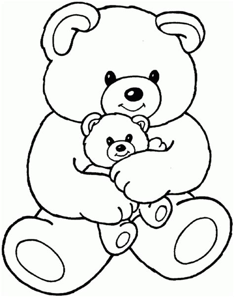 Mama Bear Coloring Pages | cartoon coloring pages mama bear with baby bea