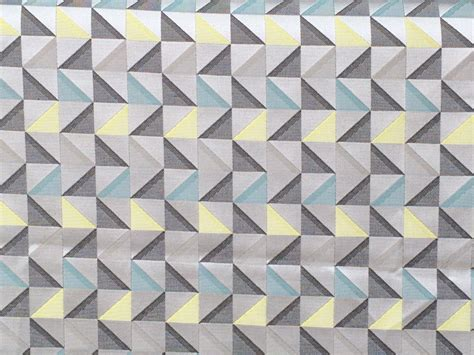 grey and yellow curtain fabric grey and yellow geometric triangle curtain fabric by the yard