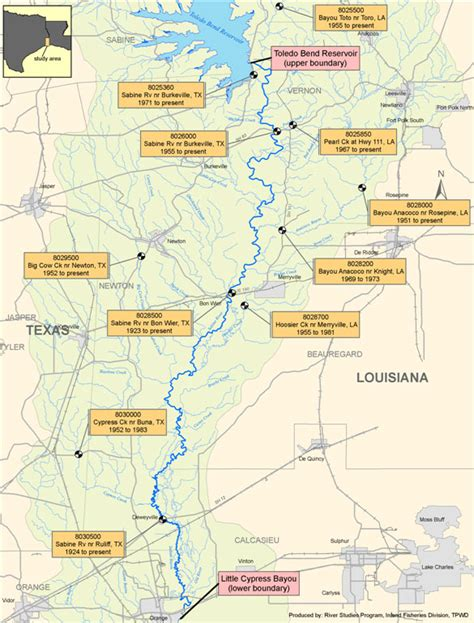 sabine river texas map lower sabine instream flow studies texas water development board
