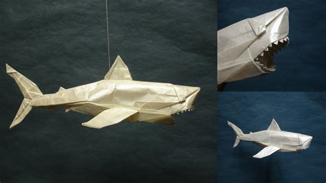 Origami Great White Shark - origami great white shark by origami artist galen on