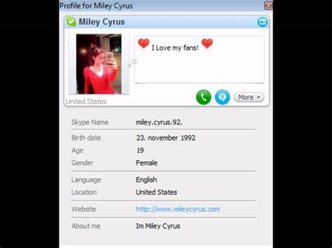 Find Peoples Skype Names Miley Cyrus Real Skype Name Id