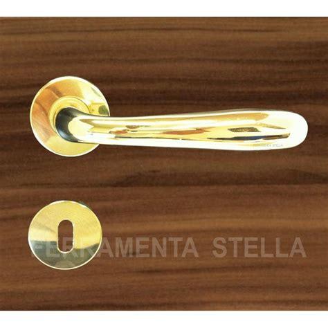 maniglie porta coppia maniglie maniglia con rosetta oro lucido porta