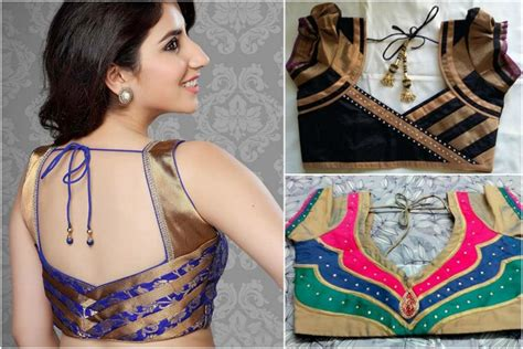 New Blouse Style8 13 blouse designs with patch work
