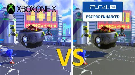 Kaset Ps4 Sonic Forces sonic forces graphics comparison xbox one x vs ps4 pro