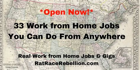 33 work from home you can do from anywhere real