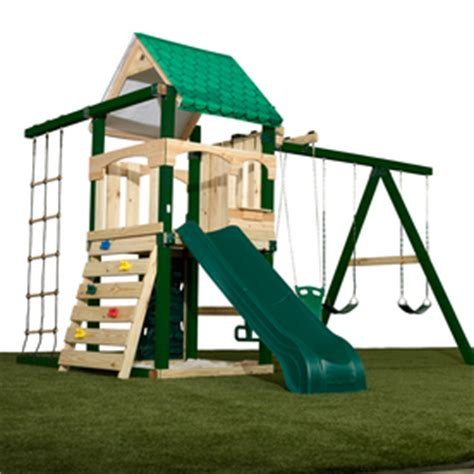 swing n slide playset shop swing n slide yukon residential wood playset with