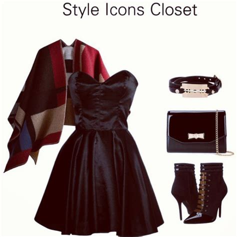 Style Icons Closet by Vintage Inspired Silk 50s Style Black Dress Style