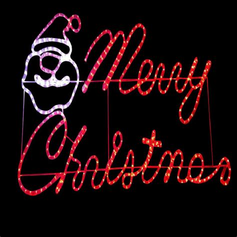 merry christmas outdoor sign with lights diy 47 in x 24 in merry motif 13 310 the home depot