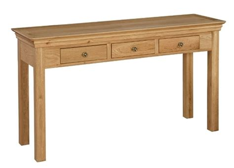 bordeaux oak 3 drawer console table oak furniture solutions