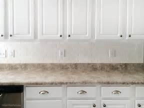 White Subway Tile Kitchen Backsplash How To Install A Kitchen Backsplash How To Nest For Less