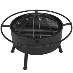 Firepit Grille Best Choice Products 30 Quot Pit Bbq Grill Firebowl Patio Fireplace Firepit Ebay