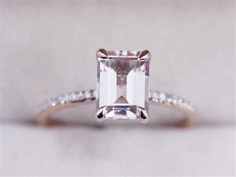 Pink Morganite 4 93ct Pink Emerald vs 6x8mm pink morganite ring emerald 14k gold