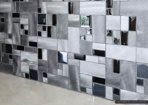 Glass Backsplashes For Kitchens 4 black glass aluminum metal mixed modern backsplash tile